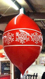 Christmas ornament parade balloons or for events.