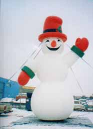 Snowman cold-air advertising Christmas balloon